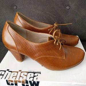 Chelsea Crew Matis brown leather heels size 38